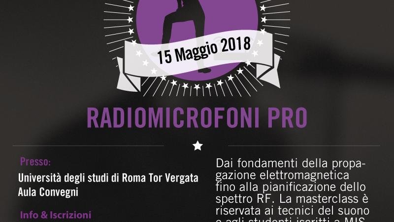 Seminario radiomicrofoni Shure